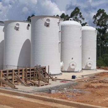 Tanque Vertical Fundo Plano e Tampa Plana em Fibra de Vidro - PRFV - 02