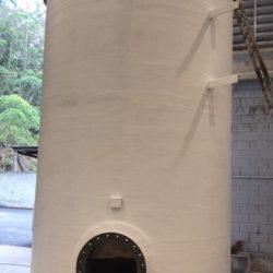 Tanque Vertical Fundo Plano e Tampa Plana em Fibra de Vidro - PRFV - 03